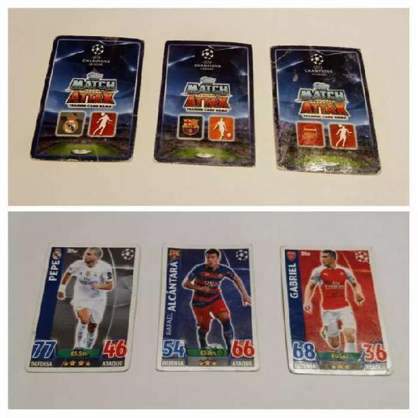 3 figuritas-cartas de la uefa champions league. venta o