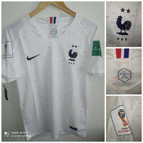 Camiseta selección francia blanca 2018