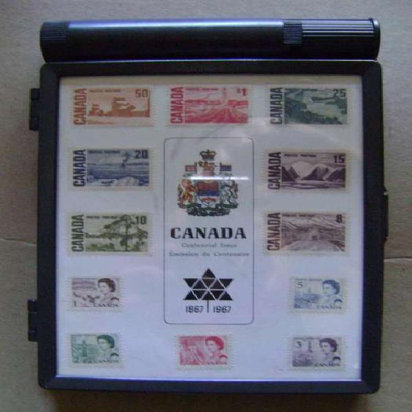 Canadá set 12 estampillas centenario caja conmemorativa /