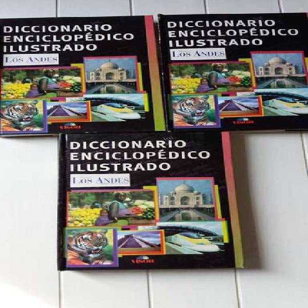 Diccionario enciclopédico ilustrado visor los andes 3 tomos