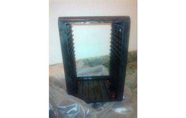 Dos (2) modulos porta guarda cds negro