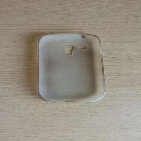 Funda celular samsung s3 mini, transparente de silicona