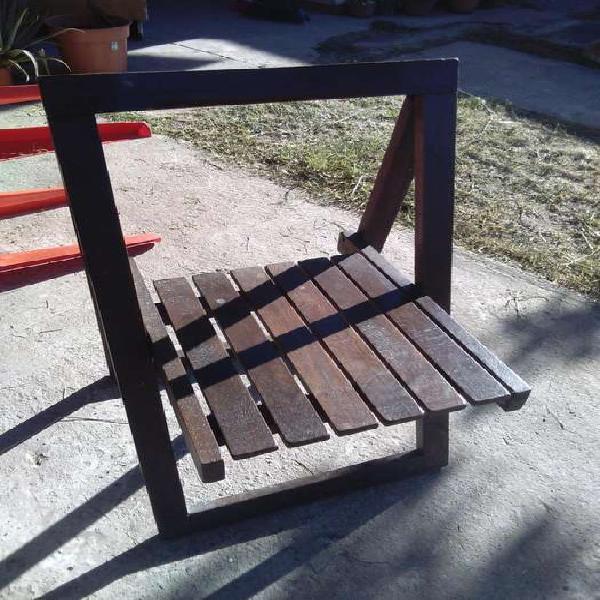 Liquido 4 sillas plegables, madera robusta!