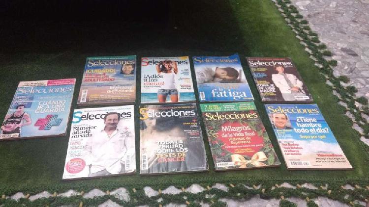Lote de revistas selecciones 9 unidades