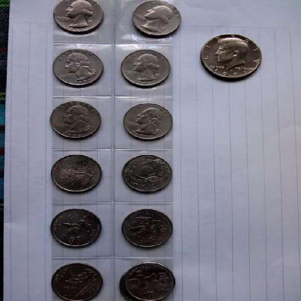 Lote monedas norteaméricanas