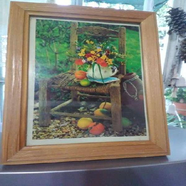 Portarretrato marco madera clara 22 x 17 cm