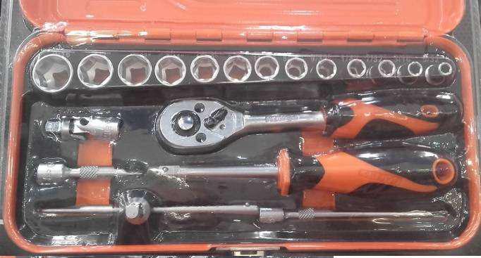 Set de caja metalica tubos en cromo vanadio. nuevo.