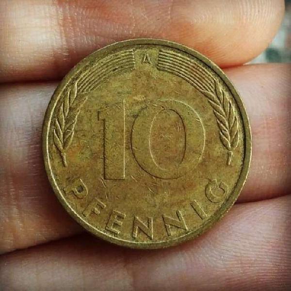 Alemania 10 pfennig 1995 - ceca: a (berlín)