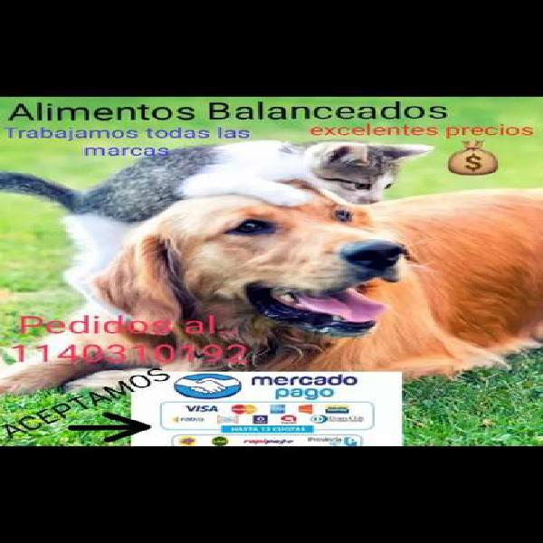 Alimentos balanceados perros/ gatos desde 800pesos