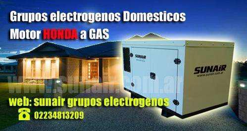 Grupos electrogenos honda a gas domesticos comerciales,