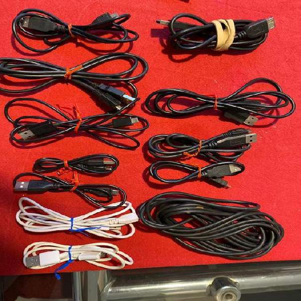 Lote cables, micro usb y mini, varios