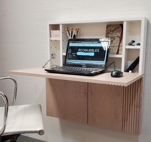 Mesa escritorio de pared rebatible plegable