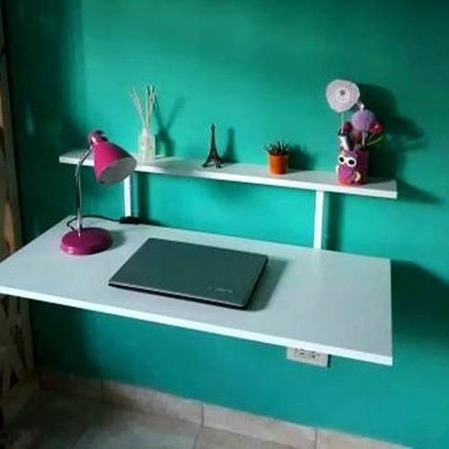 Mesa escritorio estante desayunador rebatible grande!