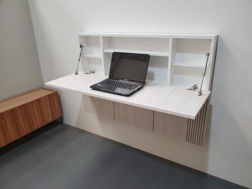 Mesa escritorio pc de pared rebatible plegable moderno