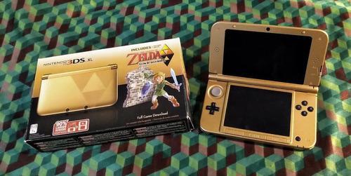 Nintendo 3ds xl (edición zelda) + 128gb + 125 juegos