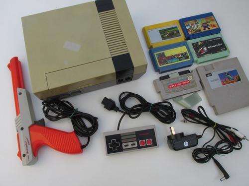Nintendo nes + juegos + zapper