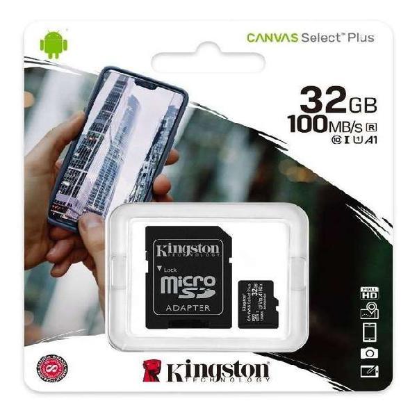 Tarjeta de memoria 32gb 100mb/s kingston original canvas