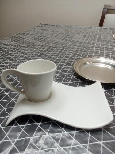 Tazas cafe c/plato delicatessen x 6