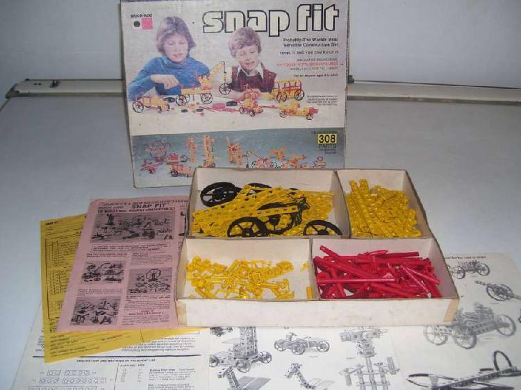 Antiguo juego de armar snap fit construction meccano