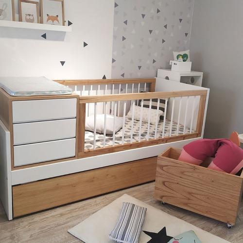 Cuna cama funcional nordica laqueada madera paraiso guatam