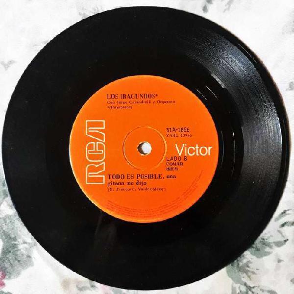 Disco vinilo simple los iracundos marionetas de carton 1968