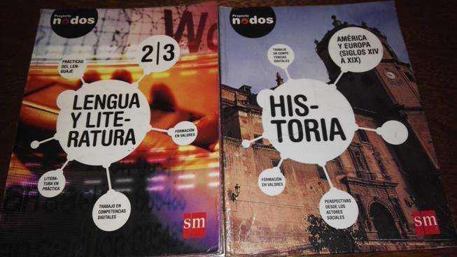 Libros proyecto nodos historia y lengua y literatura 2/3