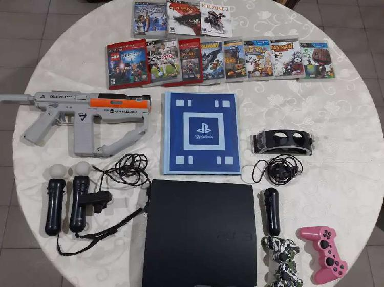 Playstation 3 slim 160 gb charlable. ideal para el día del