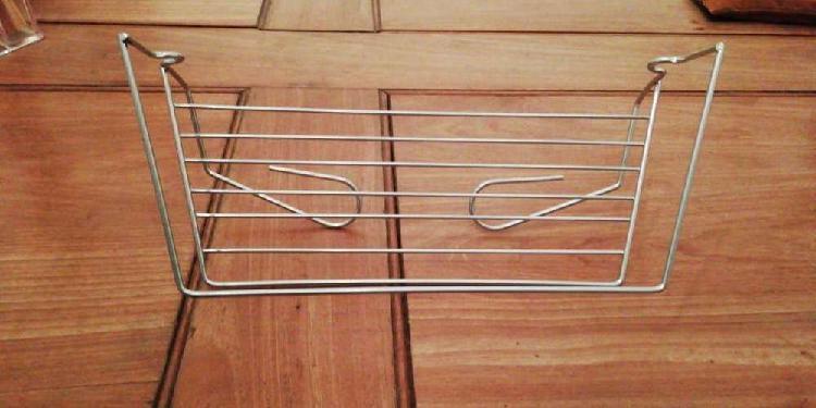 Porta rollo cocina/especiero acero inoxidable