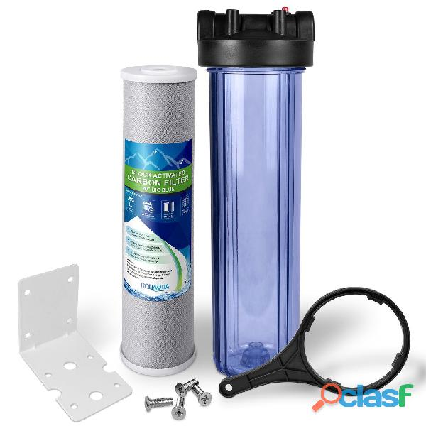 Prefiltro aquahome big blue 20 cto carbon activado bloque