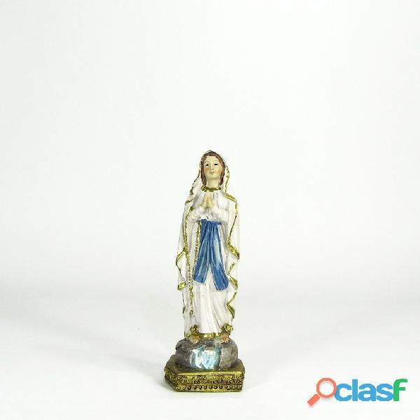 Virgen de Lourdes 10cm Poliresina Italiana