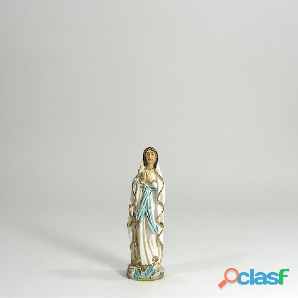Virgen de Lourdes 7,5cm poliresina Italiana