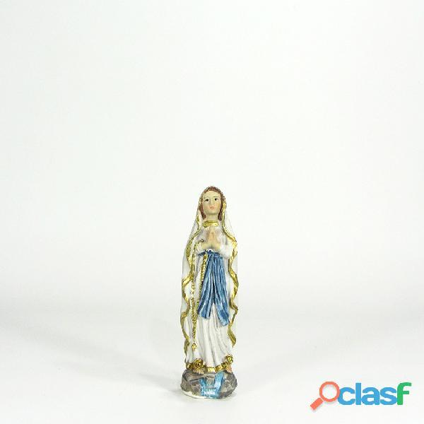 Virgen de Lourdes 8cm Poliresina Italiana