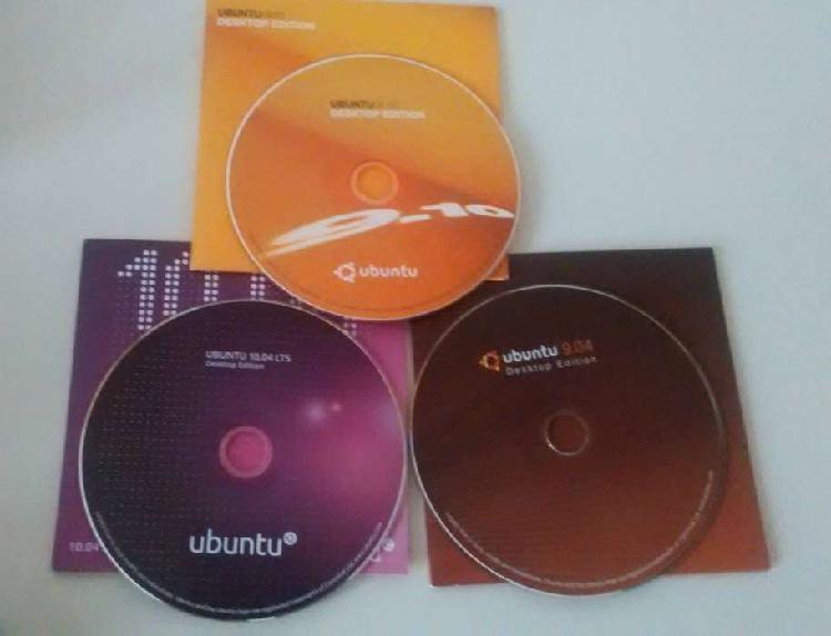 Discos originales de ubuntu. gnu/linux