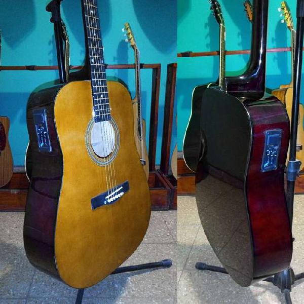 Guitarras acusticas ecu 3 bandas nuevas! tarjetas!
