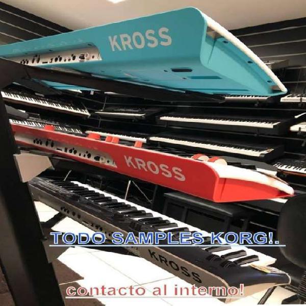 Korg kross 2 samples serie pa , tr