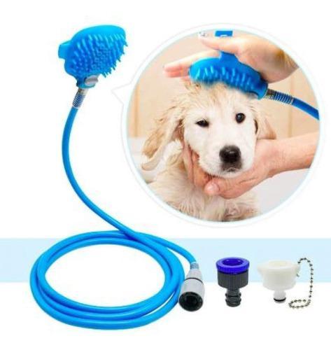 Manguera ducha cepillo para mascotas calidad profesional