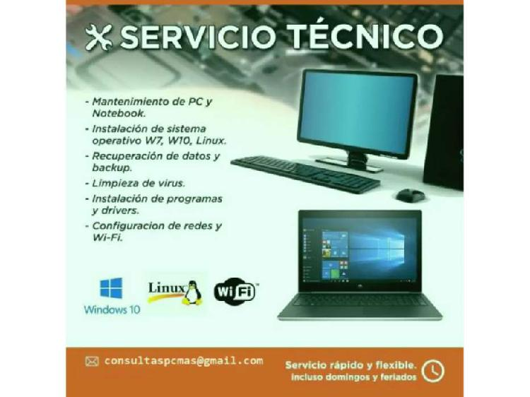 Servicio técnico soporte pc