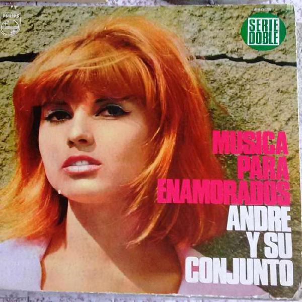 3 discos vinilo andre y su conjunto: musica para enamorados