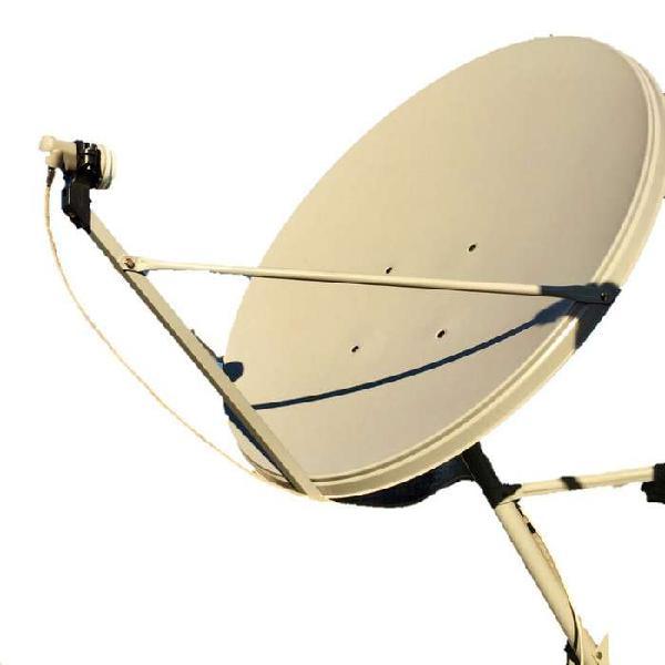 Antena parabolica tv satelital de 90x100 cm