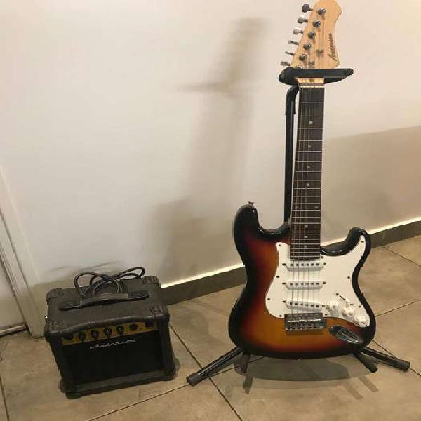 Combo niños guitarra eléctrica anderson y amplificador