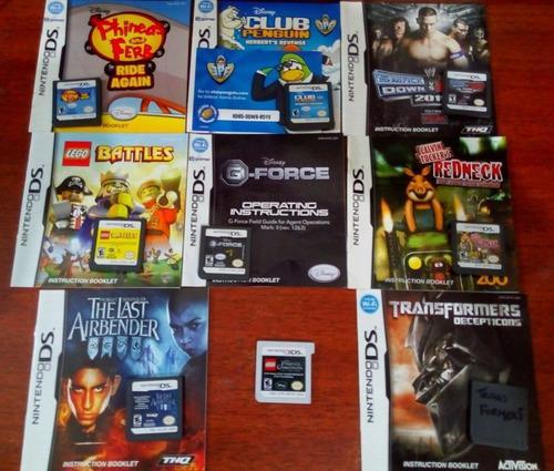 Lote nintendo ds y 3ds 9 juegos con manuales