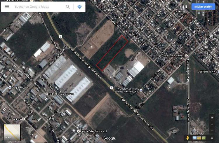 Tierras industriales en venta, ruta 3 sur, bahía blanca