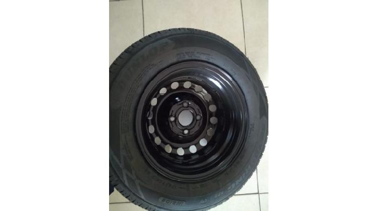 Vendo neumático 175/70/13 y llanta de chapa rodado 13 nuevo
