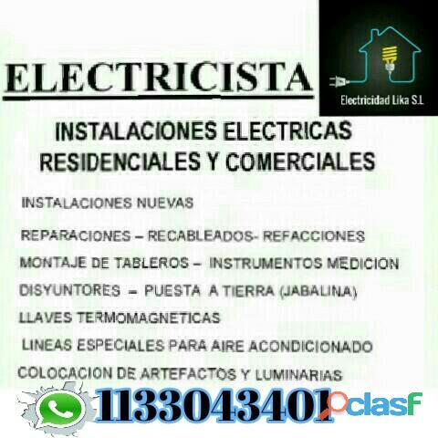 Electricidad domiciliaria.