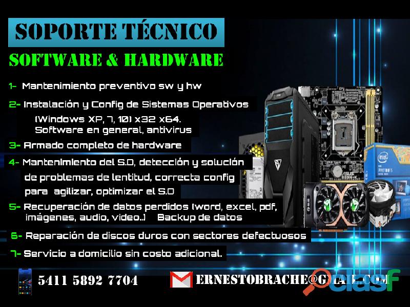 Soporte técnico software y hardware