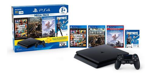 Consola playstation 4 1tb ps4 mega pack 6 juegos dualshock 4