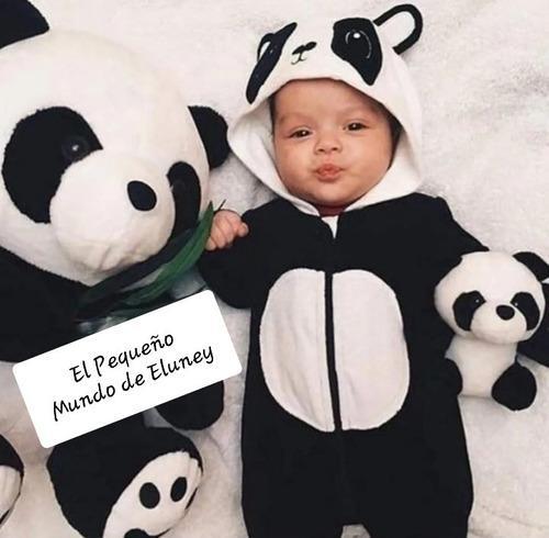 Enterito pijama bebe oso panda peluche super abrigados 20