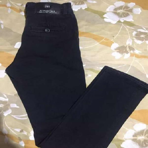 Líquido jeans hombre talle 38 negro elastizado chupin