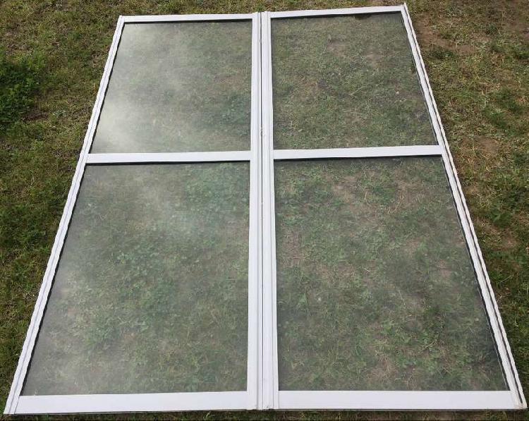 Vendo hojas de ventanas de aluminio línea herrero (sin