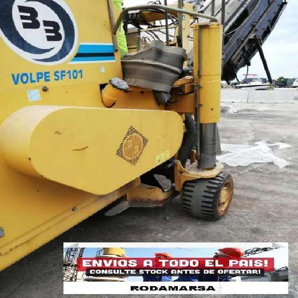 Cub ierta cod terminadora de asfalto bite lli sp101 ruedas